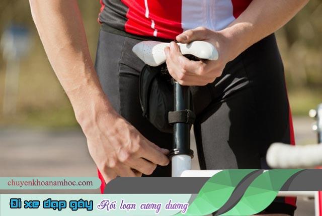đi xe đạp gây rối loạn cương dương.