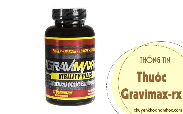 Thông tin về Thuốc chống xuất tinh sớm Gravimax-rx
