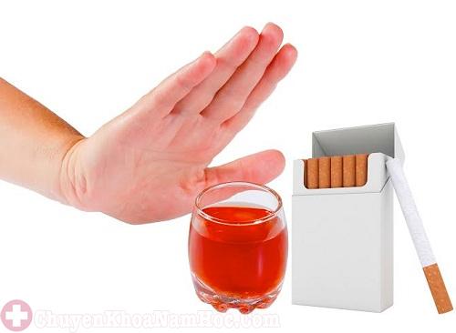 Hạn chế rượu bia, thuốc lá để tăng cường sinh lý nam