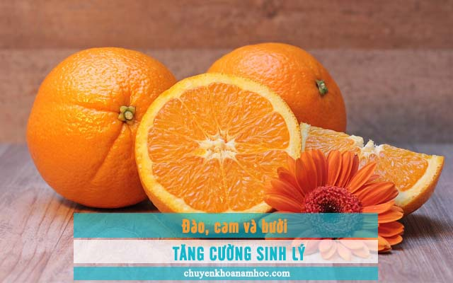 Đào, cam, bưởi giúp tăng cường sinh lý