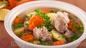 Canh xương hầm cà rốt, khoai tây - món ăn hỗ trợ điều trị xuất tinh sớm