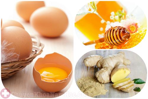Chữa xuất tinh sớm bằng trứng gà với gừng và mật ong
