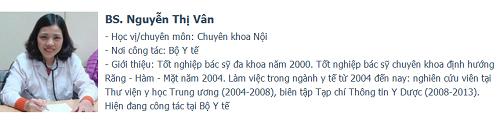 Bác sĩ Nguyễn Thị Vân