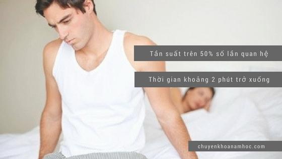 Biểu hiện của bệnh xuất tinh sớm ở nam giới
