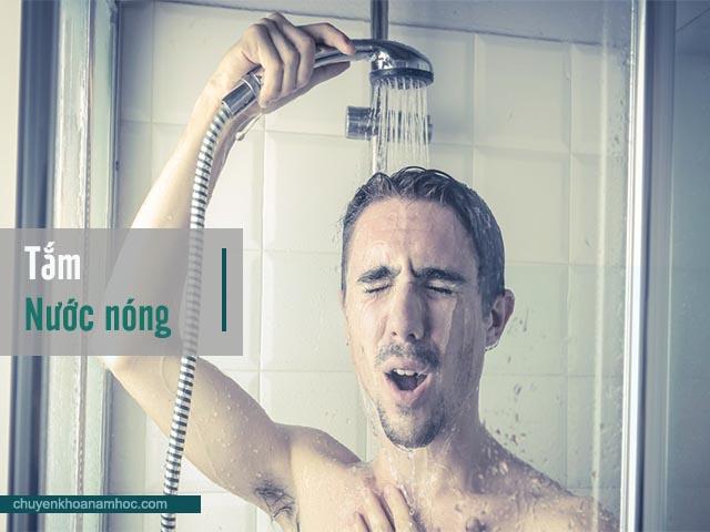 tắm nước nóng cải thiện xuất tinh sớm