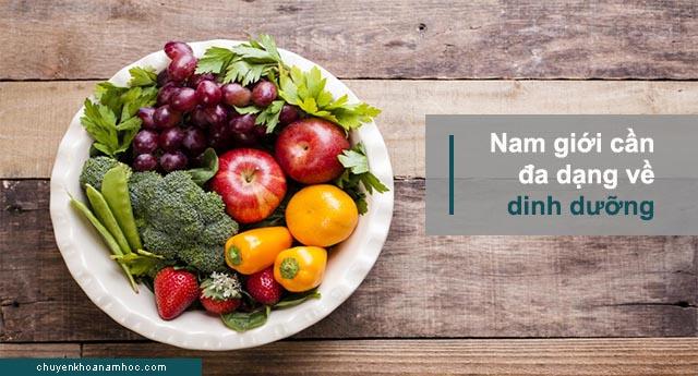 dinh dưỡng cho người rối loạn cương dương