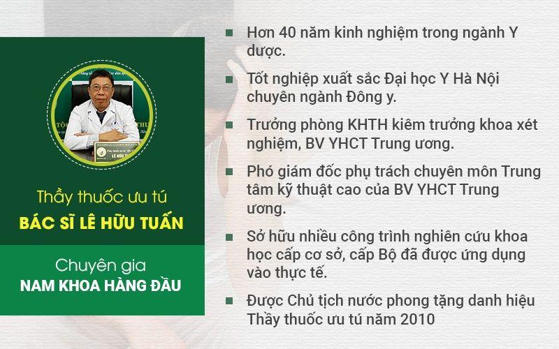 Thầy thuốc ưu tú - Bác sĩ Lê Hữu Tuấn