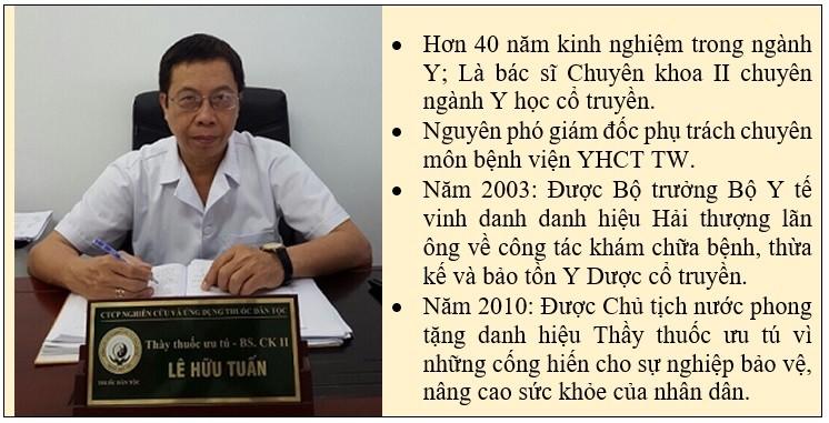 Một số thông tin về bác sĩ Lê Hữu Tuấn