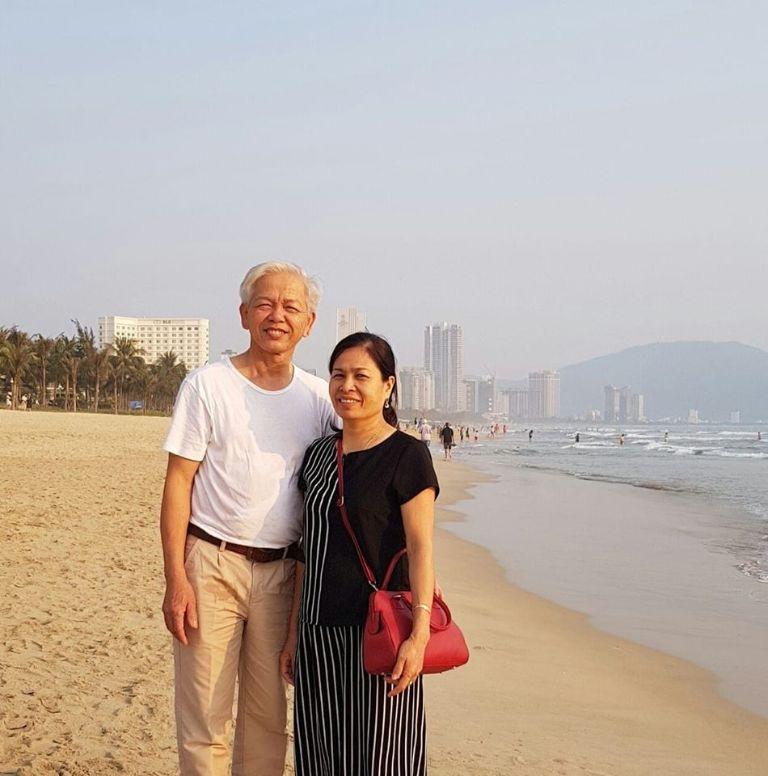 Ông Nguyễn Quang Xây vui vẻ khi bệnh tình tiến triển tích cực