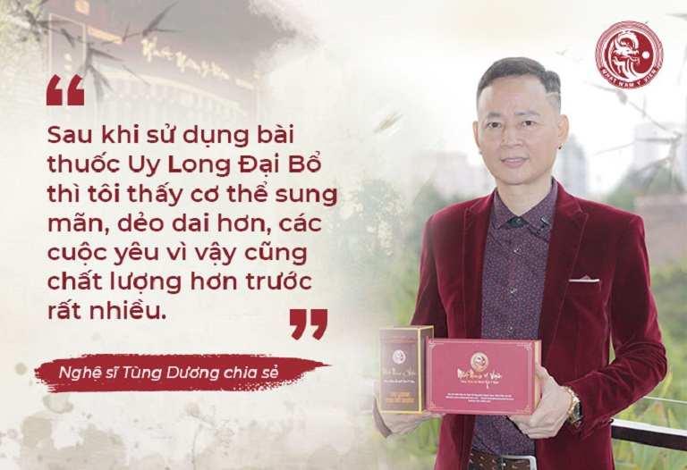 Diễn viên Tùng Dương chia sẻ hiệu quả của thuốc trong phóng sự VTV2